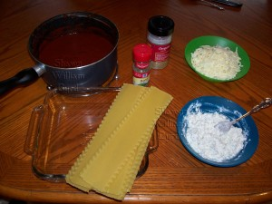 Shawn Byrd Lasagne ingredients
