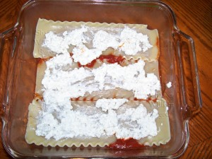 Shawn Byrd Lasagne cottage cheese